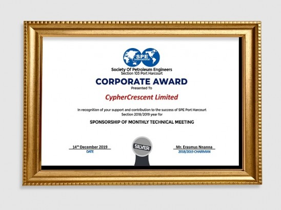 SPE Port Harcourt Section 103 Honours CypherCrescent